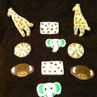 Animal Cookies These cookies were made to go with the bedroom theme for the baby to come.