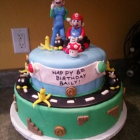 Mario Cart Birthday Cake
