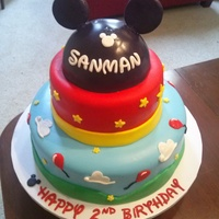 Mickey Mouse Cake Birthday cake we did through Icing Smiles for a little boy battling cancer.