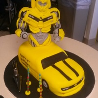 Transformers Bumblebee Cake Another cake we had the opportunity to do through Icing Smiles for a little boy with a congenital heart defect.