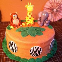 Safari Birthday Cake   Safari Birthday Cake