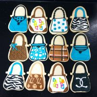 Purse Cookies purse cookies (teal & black party)