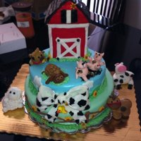 Barn Yard Baby Shower Cake