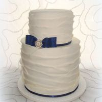 Elegant Ruffle Wedding Cake *