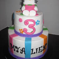 Hello Kitty Cake girly hellp kitty cake with fondant on top