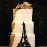 Paris Bridal Shower This cake was part of an entire dessert table! So much fun! TFL!
