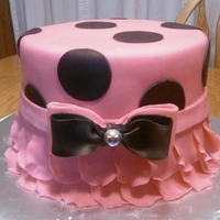Polka Dots & Ruffles This is just a cake I made for my family for fun. TFL