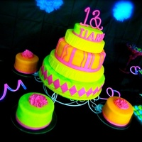 My Daughters 13Th Birthday The Glow In The Dark Theme Was A Bit Challenging But I Was Happy With The End Result My daughter's 13th birthday! The glow in the dark theme was a bit challenging, but I was happy with the end result!