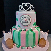"Country Princess Baby Shower Cake The parents of this baby's cake is having a ""Princess themed"" baby shower but also have a love for country music. This is a..."