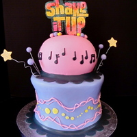 Shake It Up Cake This cake is three 8x3 round cakes and the Wilton ball pan for the top tier. I used Sugarshack's Buttercream and Fondx Fondant. The...