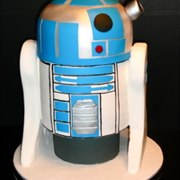 "R2 D2 Cake This cake is for my friend, Sheryl, who was turning 30. She was planning on having a ""Red Hat"" party and at the last minute,..."