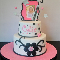 Taylor Swift Cake This cake was coated in Sugarshacks Buttercream and covered in Fondx Fondant. All decorations are fondant with the exception of the...