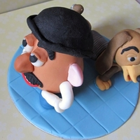 Mt Potato Head And Slinky Dog From Toy Story   I made both of these figures with fondant and a little tylos added.