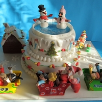Christmas Winter Wonderland I made and donated this cake for a children`s Christmas party.