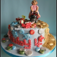 Seaside Donkey Cake. Hi everyone. I was asked to make a ?scabby donkey cake? lol, the little girl in question is 4 and was adamant that it not be a Winnie the...