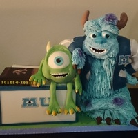 Monsters University Cake The fur on Sulley took forever but it was worth it when I saw the look on my daughter's face !