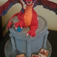 Niv Mizzet Magic The Gathering Character This is a character from Magic the Gathering card game. The dragon is fondant.