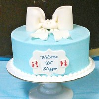 10 Inch Buttercream Cake Fondant Bow And Plaque *10 inch buttercream cake fondant bow and plaque