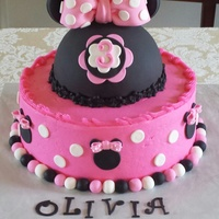 Minnie Mouse Birthday Cake   ButterCream and fondant birthday cake