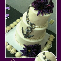 Naval Wedding Cake I love this cake. All fondant decorations painted with metal luster dust. Rope around seams.