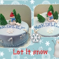 Let It Snow All fondant decorations. Airbrushed with luster pearldust and sprinkled with Disco Dust