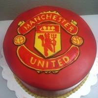 Manchester United Football Club Hand painted, not a printed logo.