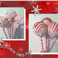 Candy Cane Cake Pops Chocolate and vanilla cake covered in white candy coating and encrusted in crushed peppermints. Ribbon wrapped around the sticks. So cute,...