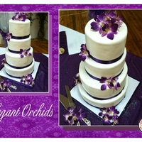 Elegant Orchid Wedding The orchids were freeze dried. I love the simplicity of this cake