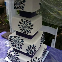 Dahlia Inspired Wedding Cake