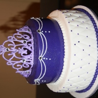 Princess Cake In Purple The crown is from a template on this sight. Thank you!