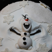 Olaf From Frozen Hi I'm Olaf and I like warm hugs - all made of fondant, so everything is edible. Chocolate mud cake with orange chocolate ganache