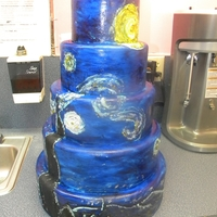 Starry Night  5 tier dummy that I needed to change out. Painted it blue and then hand-painted some of my favorite parts of 'Starry Night'. Not...