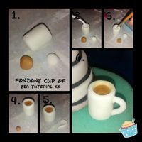 Fondant Cup Of Tea Tutorial Xx Fondant Cup Of Tea Tutorial Xx