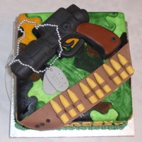 "Army/gun Cake My brief from the 9yr old was ""Army"" "" Guns"" :)"