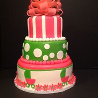 Baby Shower Cake 3 tier vanilla cake