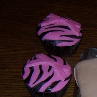 "Zebra Striped Cupcakes These were for my friends ""Girls Night Out"" Party."