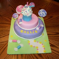Candy Cake candy cake with fondant candy pieces