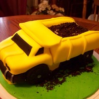 Dumptruck dumptruck cake covered in fondant