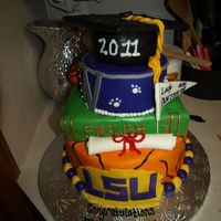 Graduation Cake For 2 Sisters