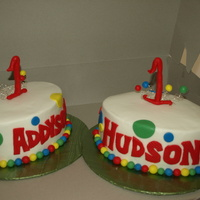 Twins 1St Bday Cakes!