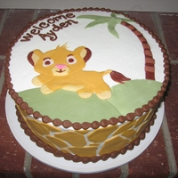 Baby Lion King Fondant accents on buttercream
