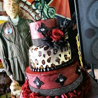 Three Tiered Rocker Themed Wedding Cakebuttercream With Fondant Accents Three tiered Rocker themed wedding cake...buttercream with fondant accents