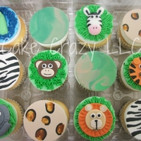 Jungle Cupcakes   jungle animals and print