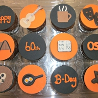 60Th Birthday Customers wanted cupcakes that represented things in this person life.