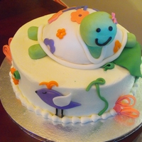 Once Upon A Pond Baby shower to cake to match the theme Once upon a pond