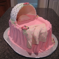 Bassinet Cake Bassinet hood was made with royal frosting and formed over a bowl then left to dry. Removal from the bowl was a little scary but, I have...