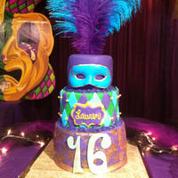 Mardi Gras Sweet 16 I made this cake for my niece's Sweet 16. I got most of my inspiration from tennilley.