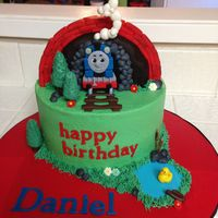 Thomas The Train   Thomas the Train cake made for my nephew's 3rd Birthday. Buttercream and fondant. TFL