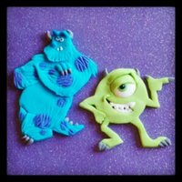 Monster Inc.  These cakes were made for my nephews' birthdays. They are only 10 months apart so we celebrate together. Love those guys! Buttercream...