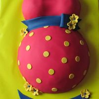 Babyshower Cake In Red, Blue And Yellow